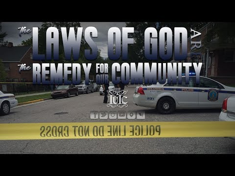 The Israelites: The Laws Of God Are The Remedy For Our Communty