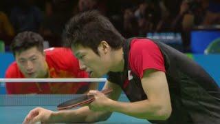 Repeat youtube video Ma Long vs Jun Mizutani (Men's Singles Semifinal) Olympic Rio 2016 Highlights