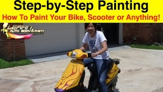 How To Paint Any Bike, Scooter or Moped Step-by-Step and Get PRO Results