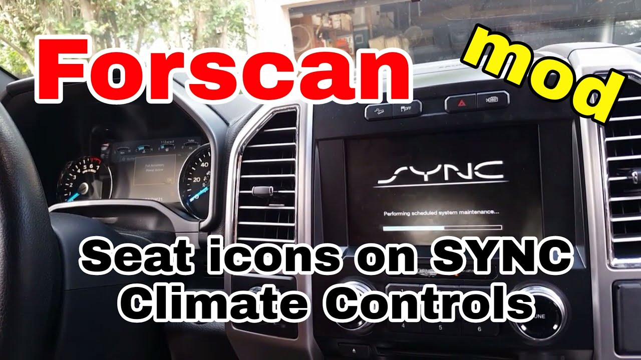 Forscan ford f150 add seat a/c and heat icons to home screen