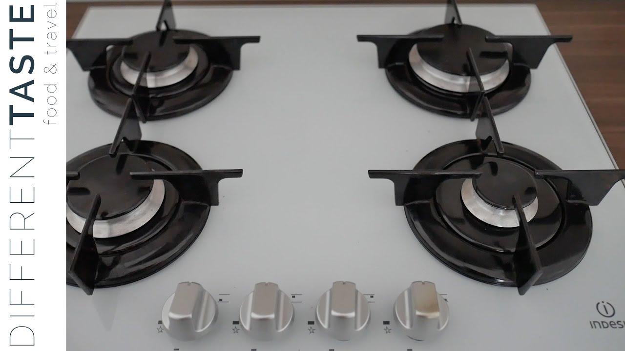 piano a gas, 4 bruciatori + 1 wok high power, 75 cm. Come Pulire Il Piano Cottura Con Aceto E Bicarbonato Youtube