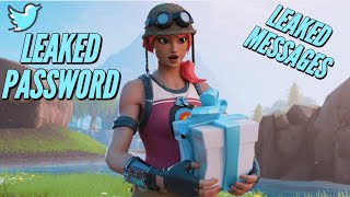 FORTNITE TWITTER HACK (LEAKED PASSWORD AND MESSAGES) REVERT UPDATE SOON