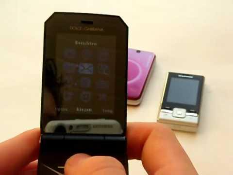 Sony Ericsson Jalou D&G, T707 en T715 demo