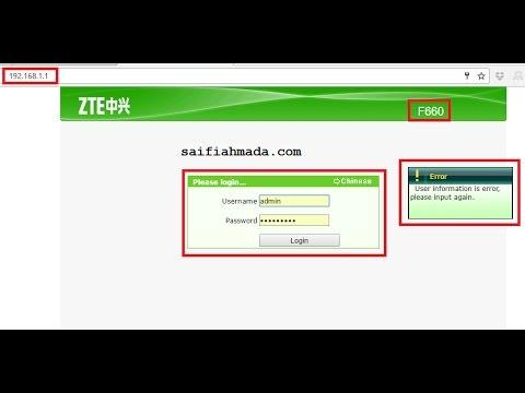 cara mendapatkan password modem zte f660