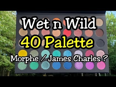 Swatches of the NEW Wet N Wild The 40 Palette - is it a Morphe / James Charles Dupe??? thumbnail
