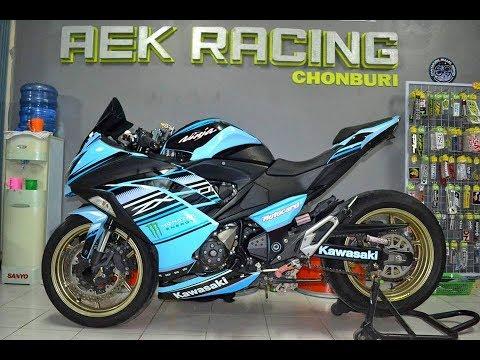Kawasaki ninja800 z800 zx10r stickerdesign aek racing
