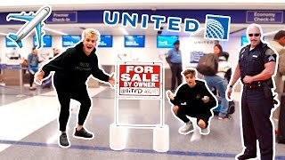 i put united airlines up for sale prank cop chase