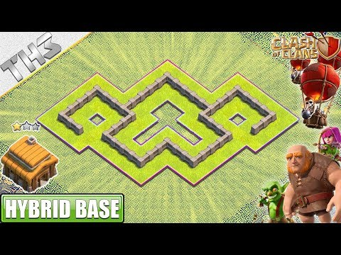 New Town Hall 3 (TH3) Base With Town Hall Inside The Wall - Clash Of Clans
