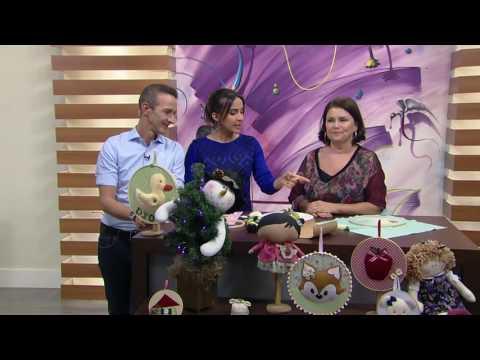 Mulher.com - 29/07/2016 - Bastidor para porta de maternidade - Sara Sardim PT1
