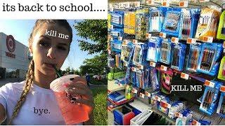 school shopping vlog...FML