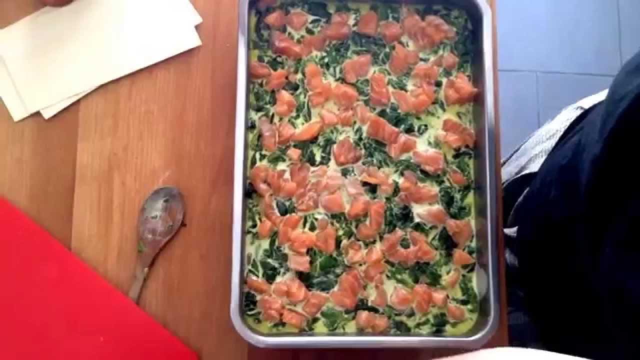 Lasagne aux pinards et aux saumons recette facile et - Lasagne facile et rapide ...