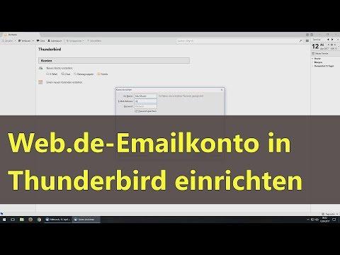 Web.de Emailkonto in Thunderbird einrichten
