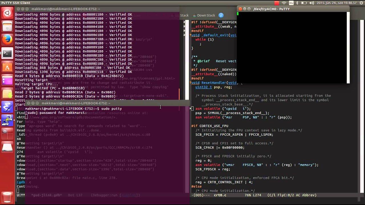 Ubuntu+Emacs+JLink+STM32F407