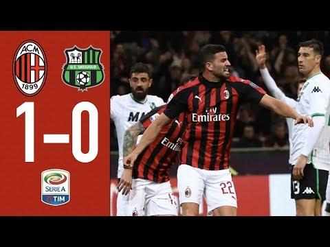 Highlights AC Milan 1-0 Sassuolo - Matchday 26 Serie A 2018/2019