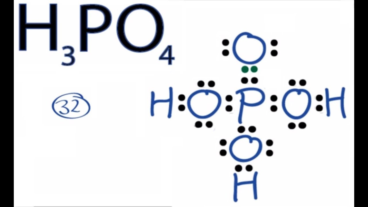 h3po4 lewis structure how to draw the lewis structure for h3po4 [ 1280 x 720 Pixel ]