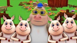 эта маленькая поросенок | детские стишки | Little Treehouse | This Little Piggy