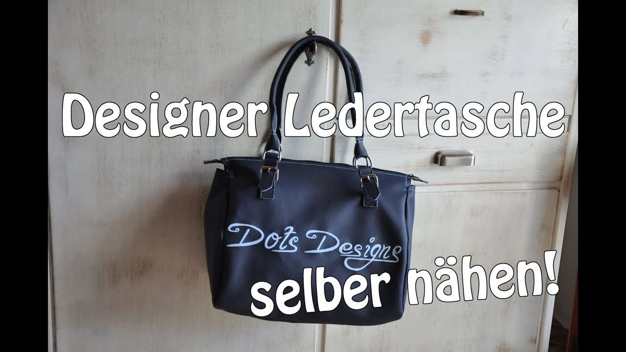 designer ledertasche selber n hen i diy n hen f r. Black Bedroom Furniture Sets. Home Design Ideas