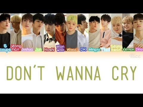 SEVENTEEN - DON'T WANNA CRY (울고 싶지 않아) Lyrics (Color Coded/ENG/ROM/HAN)