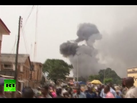 Moment of deadly Nigeria explosion caught on tape
