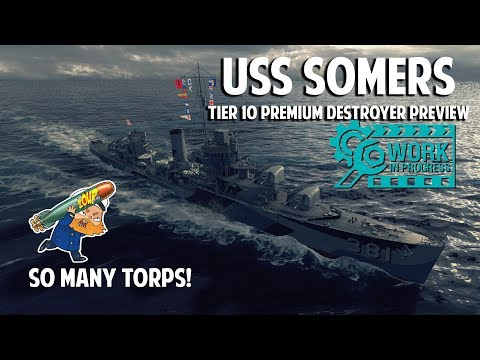 USS Somers Tier 10 USN Premium WoWS Destroyer Preview