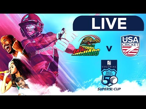 🔴LIVE Guyana Vs USA | Colonial Medical Insurance Super50 Cup