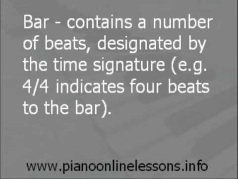 Piano Online Lessons - Musical Terms And Definitions Pt1