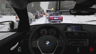 City Car Driving - BMW 120D F12 | Snow Driving
