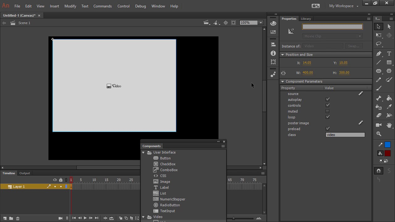 Using Animate CC HTML5 Canvas Components