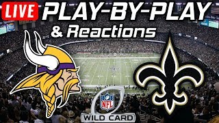 Vikings vs Saints | Live Play-By-Play & Reactions