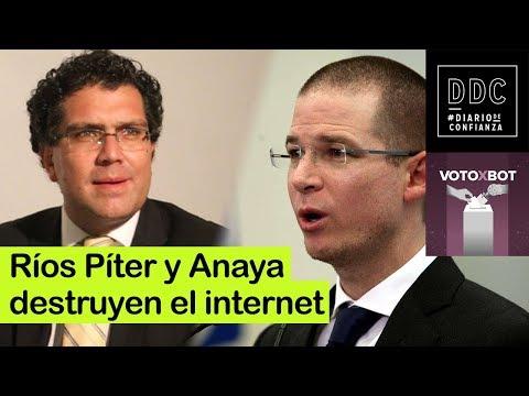 Voto x Bot : Ríos Piter y Anaya destrozan el Internet