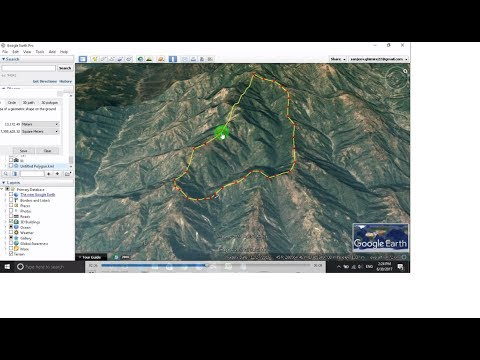 How to calculate the Catchment Area of the river Using Google Earth Pro.