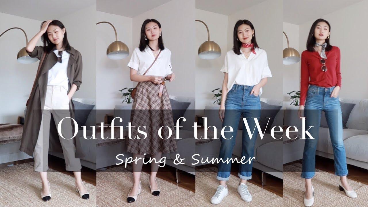 [VIDEO] - 春夏交替 一周穿搭 | Spring & Summer Outfits of the Week | LookBook | Aritzia Everlane Uniqlo Madewell 7