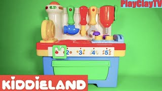 Toys for kids Educational playset Singing activity Workshop tools Kiddieland toys