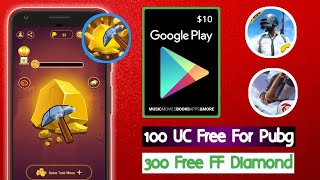 Uc For Pubg || Google Play Gift Card || FF Diamond || Mining Time App || Tricks Hoster