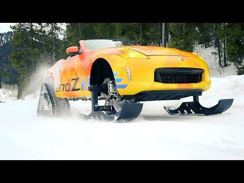 0 - Nissan baut einen 370Z zum rasanten Schneemobil um
