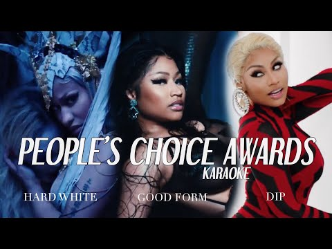 Nicki Minaj - Hard White/Good Form/Dip (Medley) | People's Choice Awards Karaoke