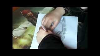 Andy Biersack/Batman (Time Lapse Drawing)