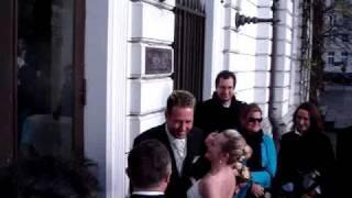 Bride arrives w/ big anticipation