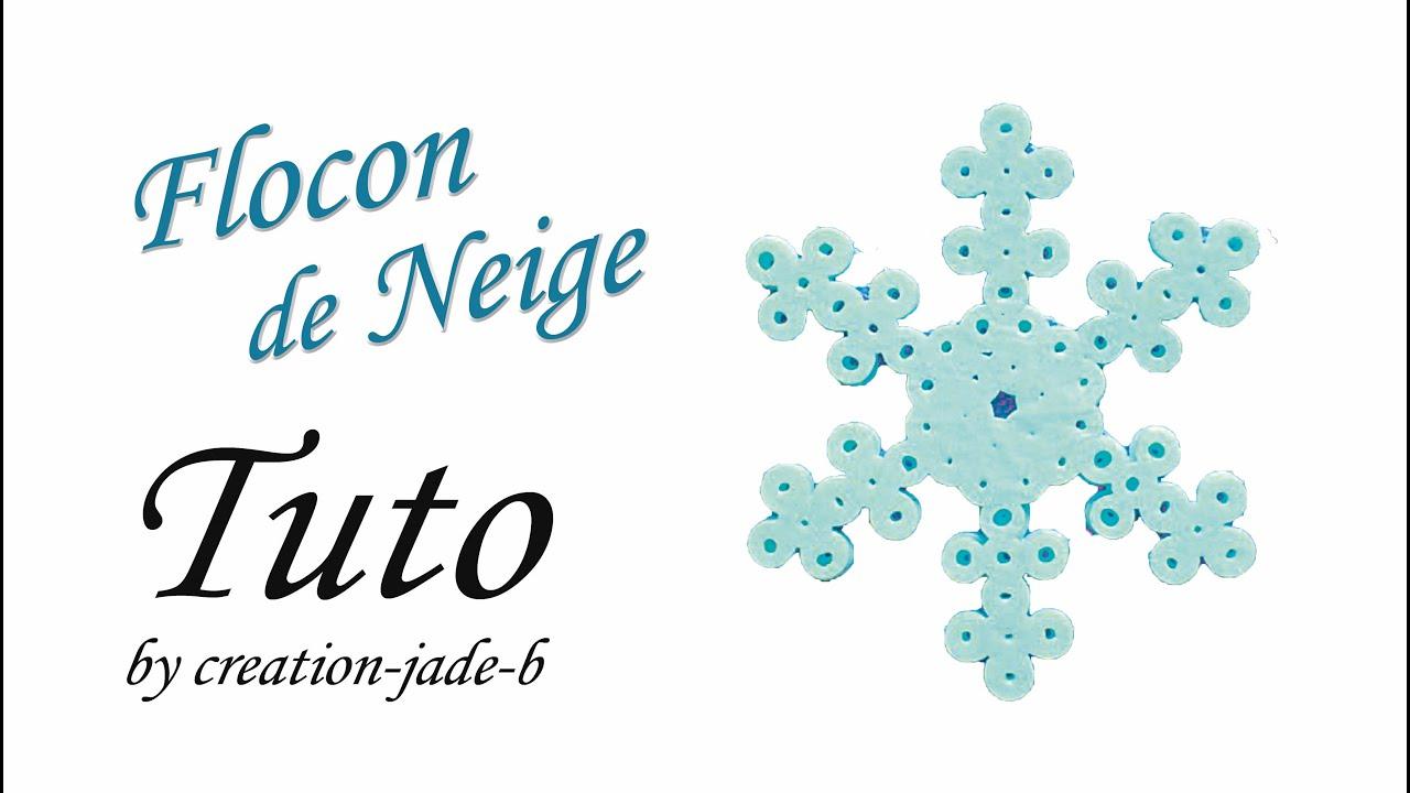 Tuto perles repasser hama flocon de neige youtube - Gabarit flocon de neige a decouper ...