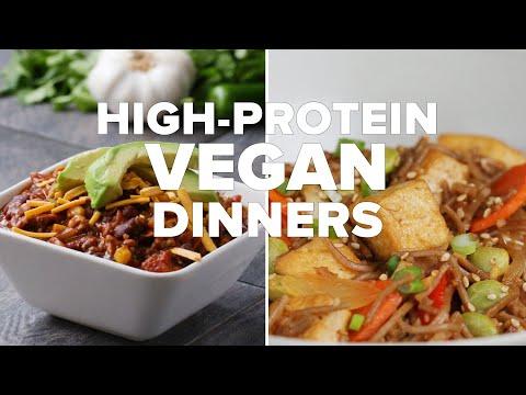 High-Protein Vegan Dinners • Tasty