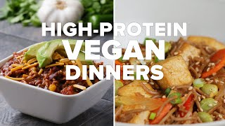 High-Protein Vegan Dinners • Tasty