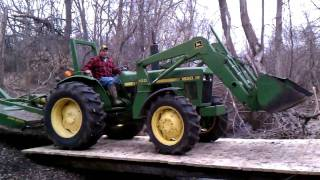 John Deere Tractor First Trip Over New Bridge