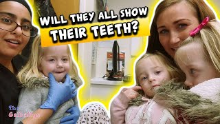 TRIPLETS Trip to the Dentist | Will they all show their teeth?