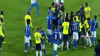 Neymar Carlos Bacca fight at end of Brazil vs Colombia Copa America 2015