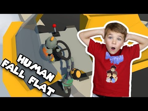 TWO LITTLE HUMANS DRIVING GIANT CARS | HUMAN FALL FLAT MULTIPLAYER