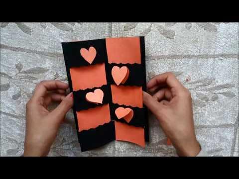 Secret Message Card Tutorial   Valentines Day Cards   Valentine cards   Valentines day card ideas