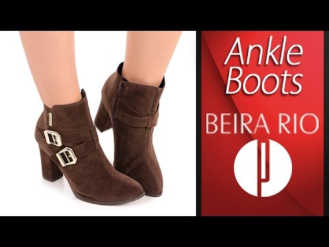 346b60ed61 Ankle Boots Feminina Beira Rio - 6010443911 - YouTube