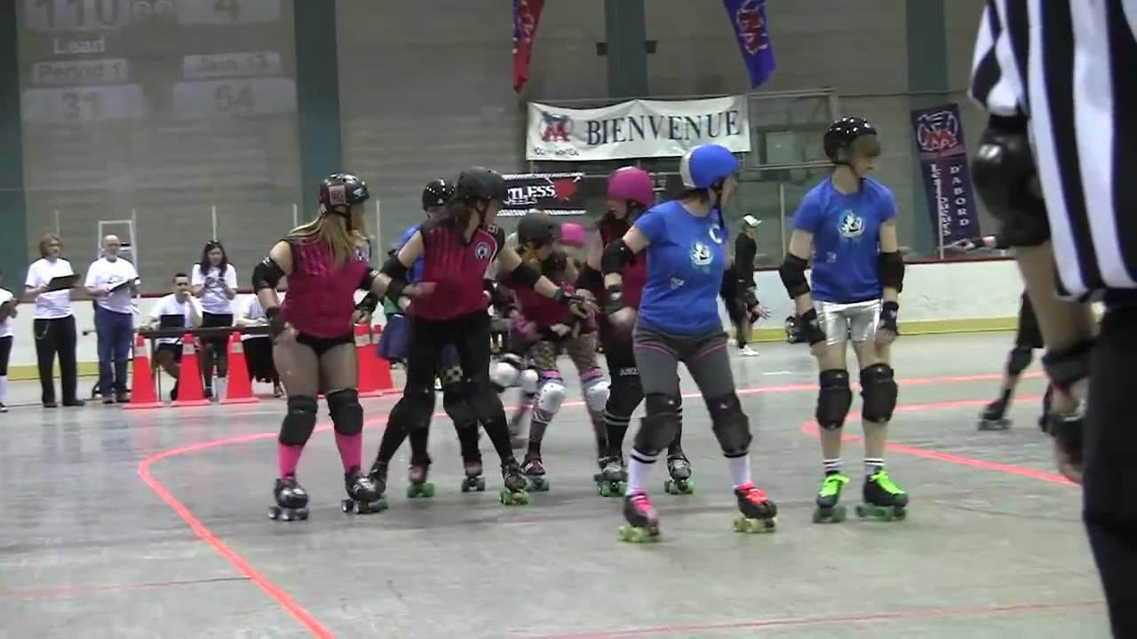 Roller skating quebec city - Beast Of The East 2011 G01 Gtar Derby Debutantes Vs Les Duchesses De Quebec Roller Derby
