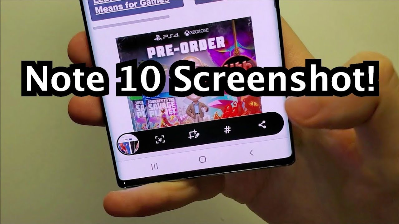 how to screenshot on samsung galaxy note 10 10 plus