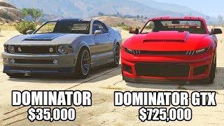 GTA 5 Online - DOMINATOR vs DOMINATOR GTX ($35,000 vs $725,000)